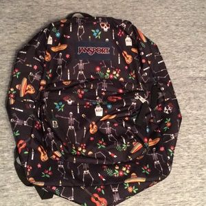 Jansport day of the dead printed laptop backpack